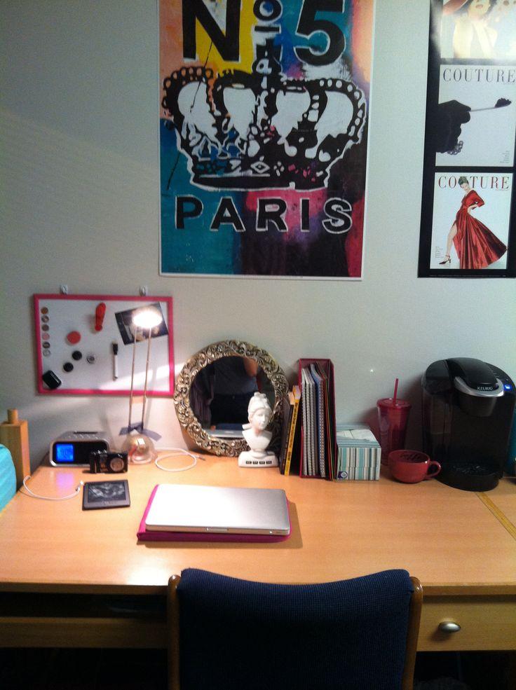 College Dorm Room Desk  Decor  Pinterest ~ 130713_Dorm Room Ideas Desk