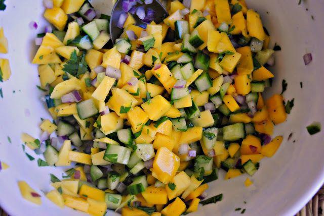 Simply Scratch » Mango Cucumber Salsa | Salad | Pinterest