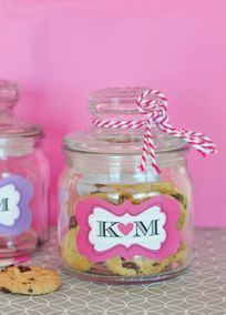 Personalized Mini Cookie Favor Jars, Style EB2393P #davidsbridal #weddingdesserts #weddingfavors