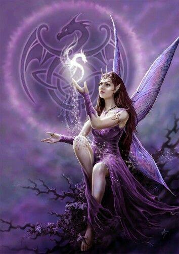Beautiful Purple Fairy | Art~Fairies | Pinterest