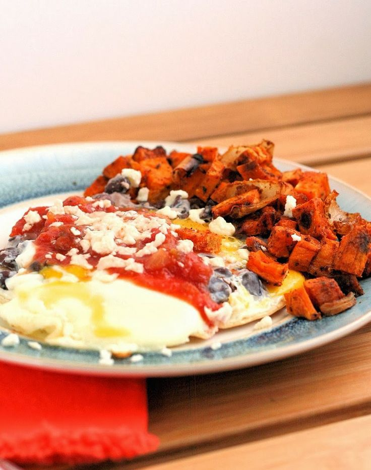 Huevos Rancheros with Roasted Sweet Potatoes | Recipe