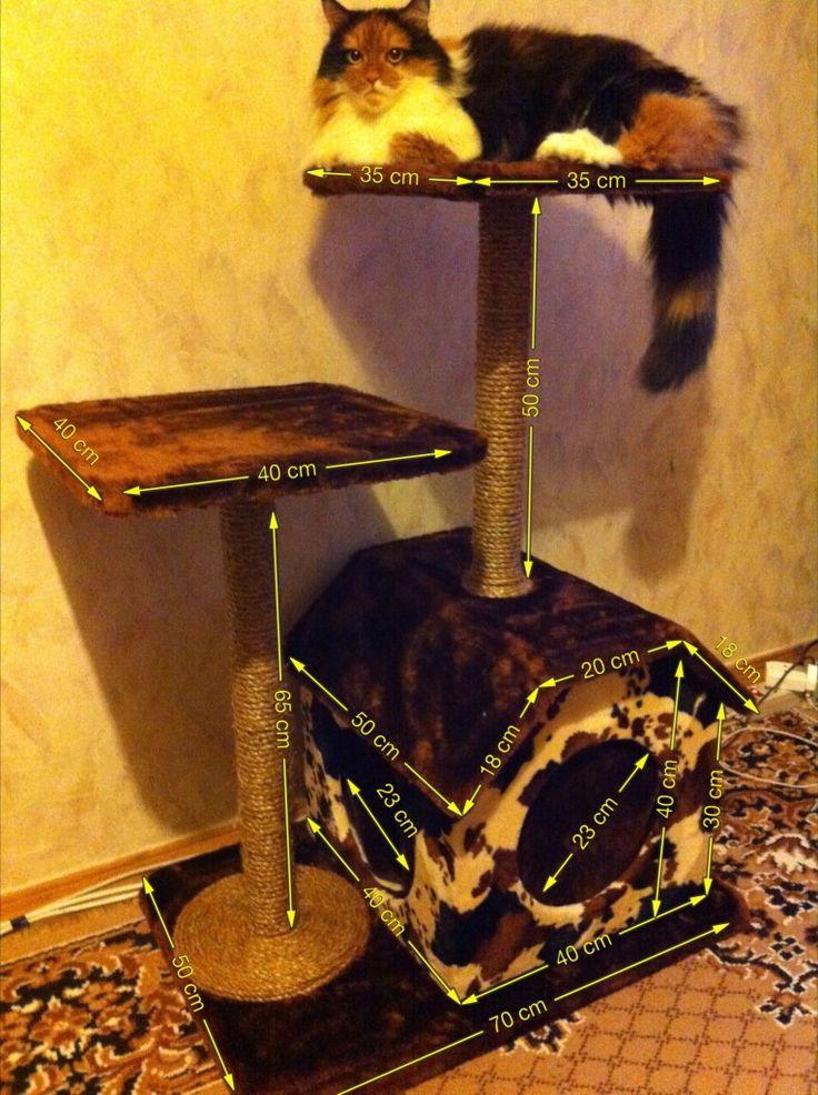 Как своим руками сделать домик для кошки 709