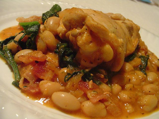 chicken with beans and spinach 2 by Elly Says Opa, via Flickr
