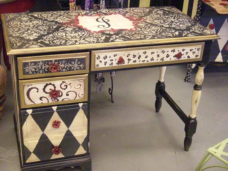 Lucky peach designs funky painted furniture pinterest