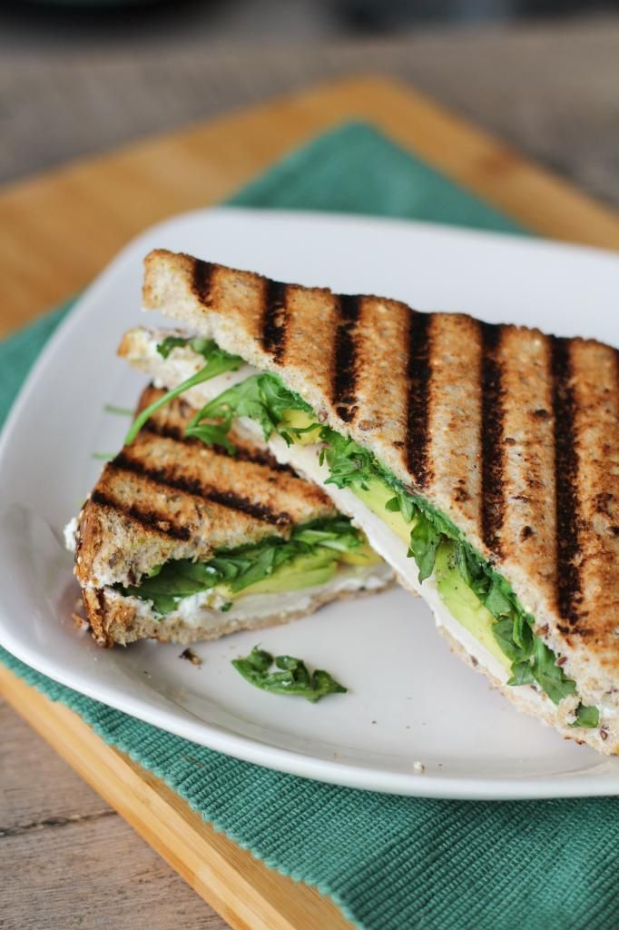 ... but if I did they would be Arugula, Avocado, & Goat Cheese Paninis