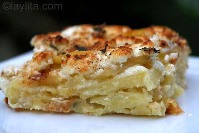 Goat cheese potato gratin. **repinning from my Goat Cheese Board ...