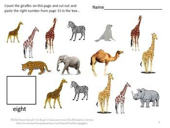 ... zoo animals, and farm animals to name a few. Count The Animals Cut and