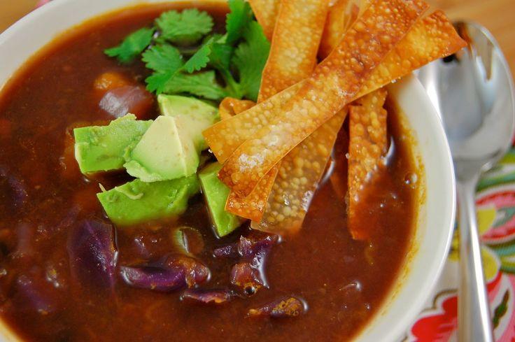 Butternut Squash and Black Bean Soup | Vegan Soup Kitchen | Pinterest