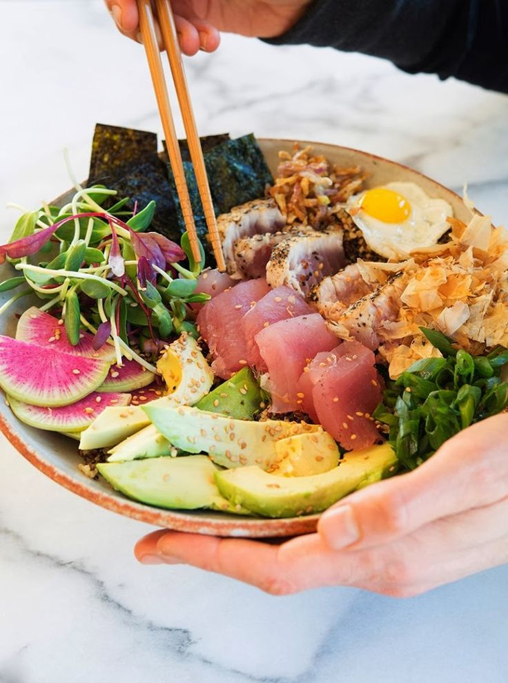 deconstructed sushi roll powerbowl