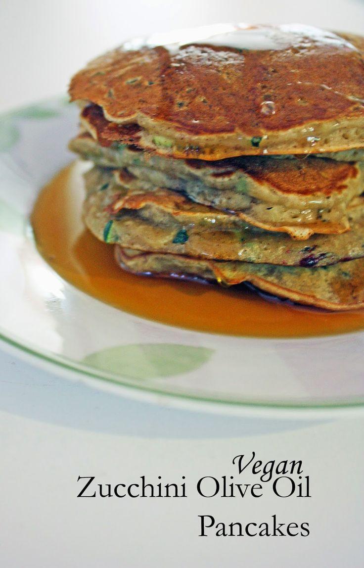 Vegan olive oil zucchini bread pancakes. | Vegan | Pinterest