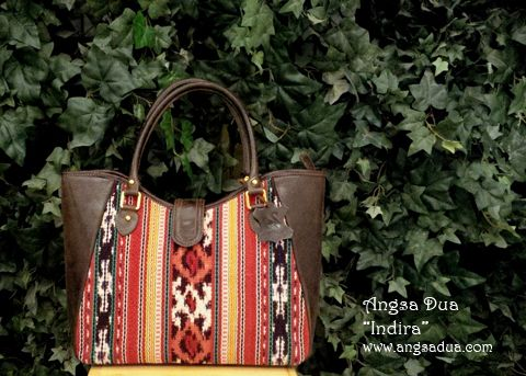 Angsa Dua - Elsa Shoulder Bag made from Indonesian handwoven combined ...