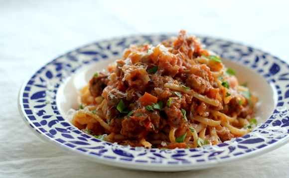 sweet and spicy sausage bolognese   food   Pinterest