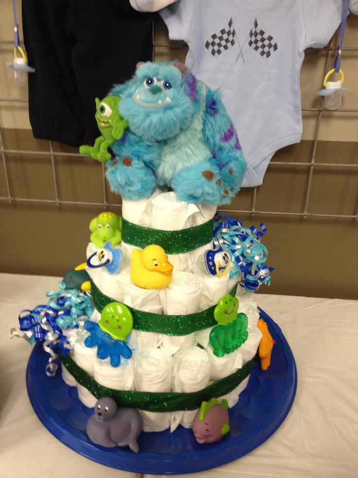 monster diaper cake