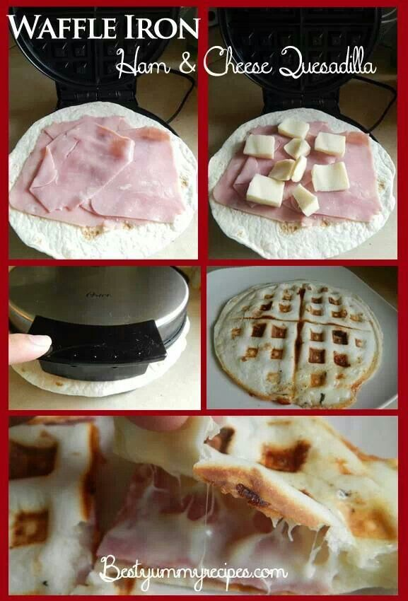 Waffle iron ham and cheese quesadilla | I LOVE food, wayyy to much ...