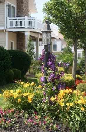 beautiful lightpost in a garden lightpost love pinterest. Black Bedroom Furniture Sets. Home Design Ideas