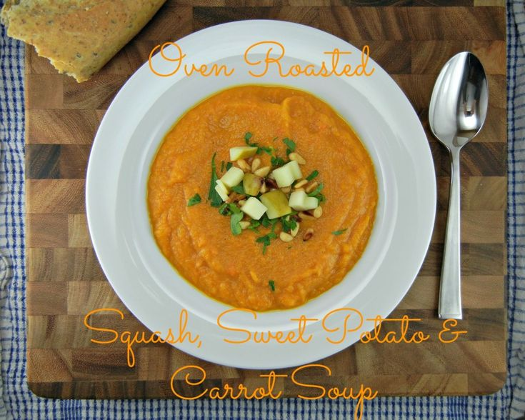 ... Roasted Squash, Sweet Potato & Carrot Soup #healthy #dairyfree #soup