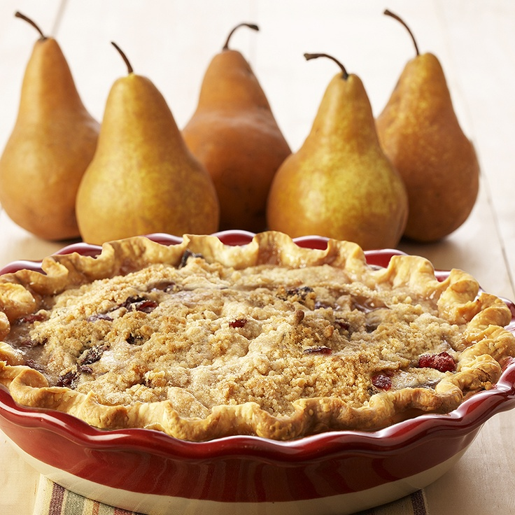 Pear and Cranberry Crumble Pie from McCormick.com
