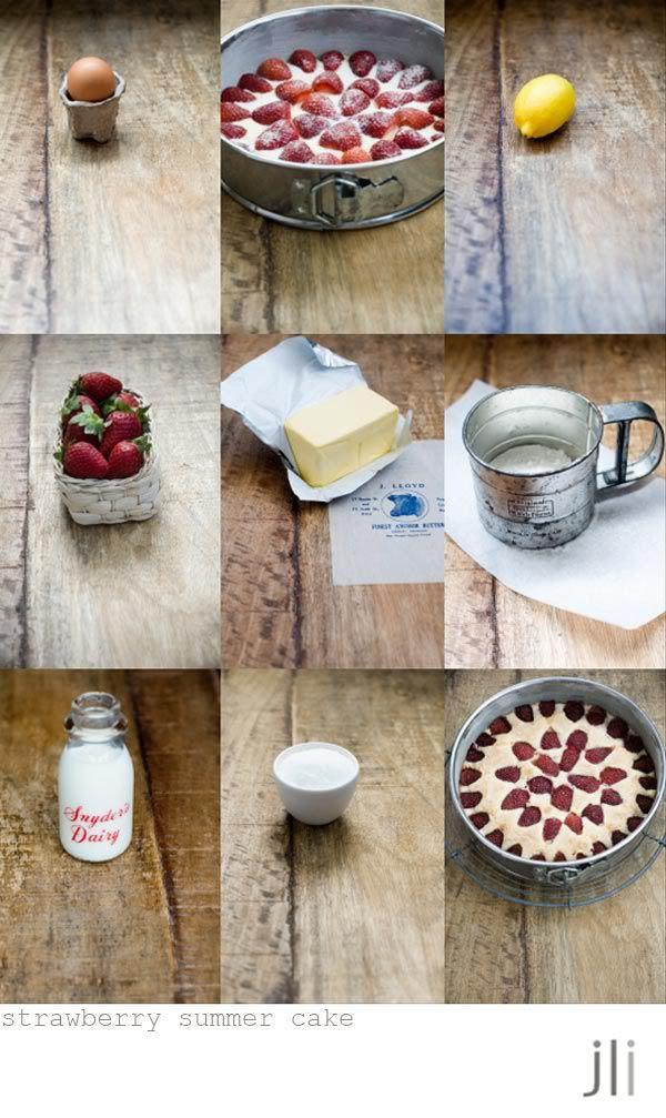 strawberry summer cake | So sweet | Pinterest