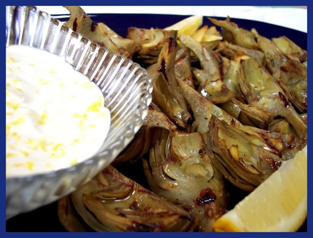 grilled artichokes with lemon aioli. sadie + stella: How about another ...