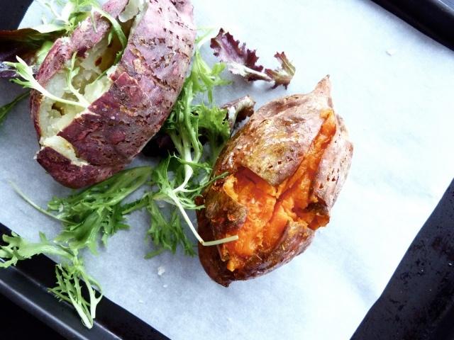 Sea salt baked sweet potato | food. | Pinterest