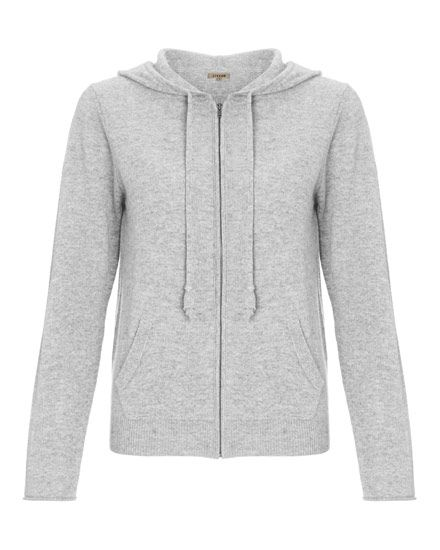Cashmere Hooded Zip Cardigan 17