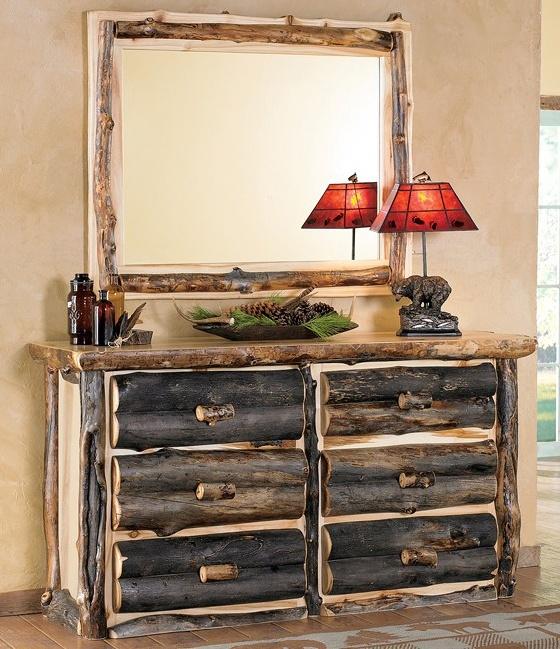 Aspen Log Dresser w/ Mirror