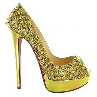 christian louboutin yellow evening shoe yellow my