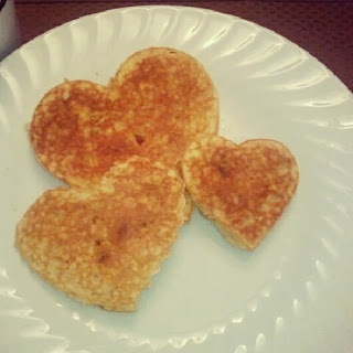 Heart-Shaped Chocolate Chip Banana Pancakes for Valentine's Day