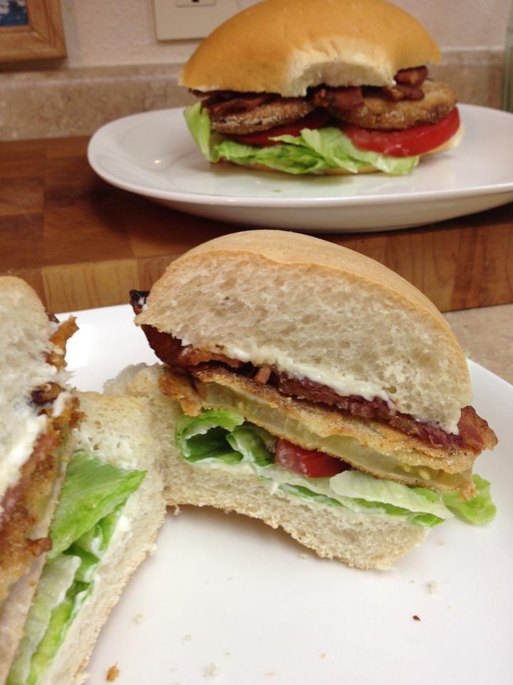 fried green tomato BLT | Favorite Recipes | Pinterest