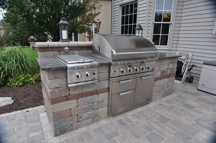 Pin by renee coulter on outdoor spaces pinterest for Outdoor summer kitchen grills
