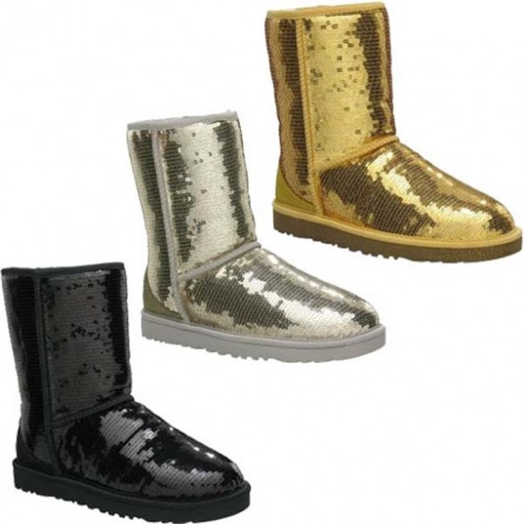 sparkly silver uggs