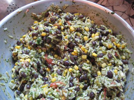 Cilantro, Bean, And Rice Salad | Salads | Pinterest