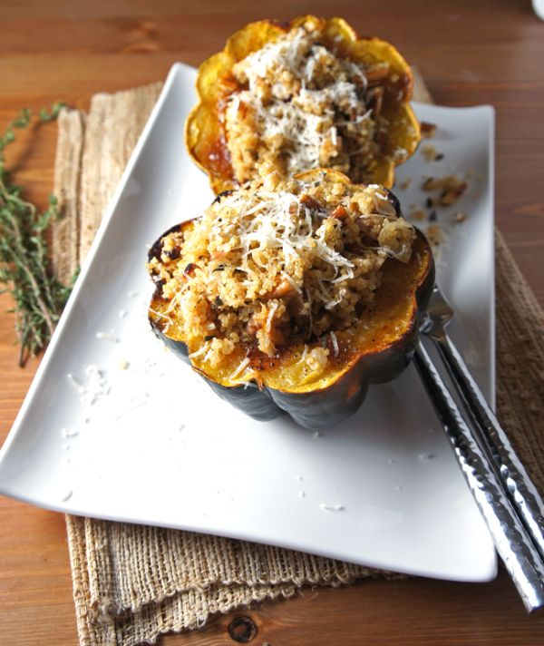 Quinoa Stuffed Squash- this was ok- used pecans instead of walnuts ...