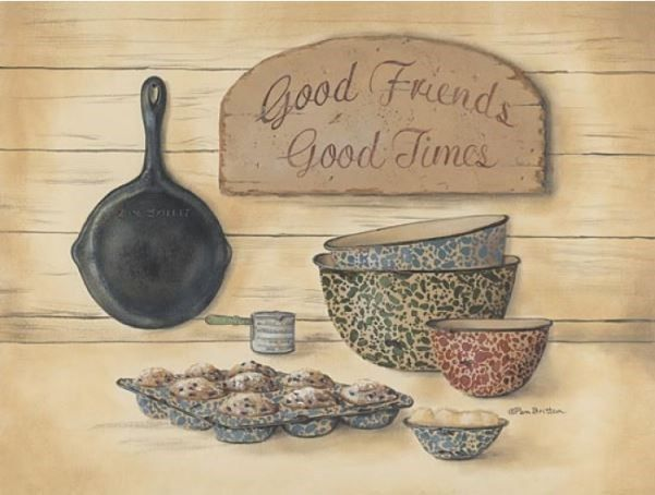 love this! Country Good Friends Fine Art Print / Picture for Primitive ...