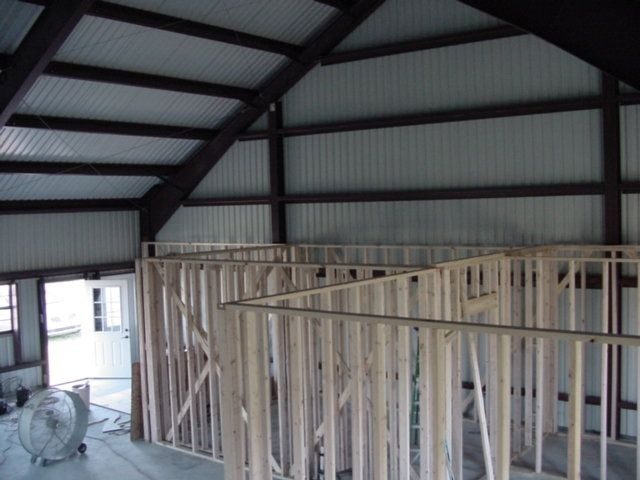 Framing A Metal Building Interior : Pin by chad landry on metal building interior framing