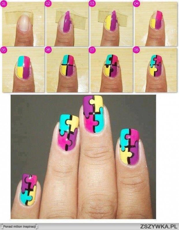 Рисунок на коротких ногтях пошагово
