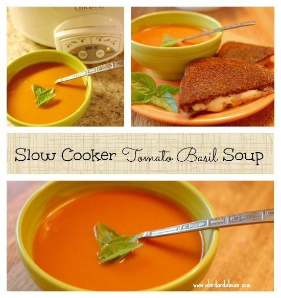 Slow Cooker Tomato Basil Soup | Recipe
