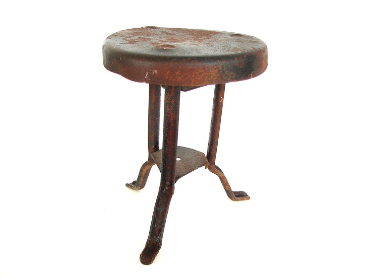 Antique Metal Milking Stool Muebles Amp Objetos Pinterest