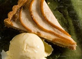 Brandied Pear-Walnut Tart | Recipe