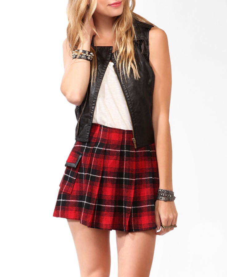 Plaid Skirt. A plaid skirt remains a popular skirt option for women of all ages. Whether a part of a school uniform or paired with an Oxford shirt for a classic, preppy look, it always looks great. Complementary for a variety of body types, this skirt can be worn mid .