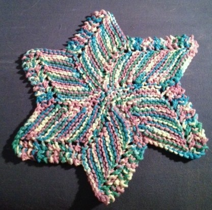 Knitted Dishcloth Pattern With Star : Knitted Star Dishcloth Anitas Knitting & Stuff Pinterest
