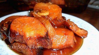 Bourbon Glazed Sweet Potatoes. | Spuds | Pinterest