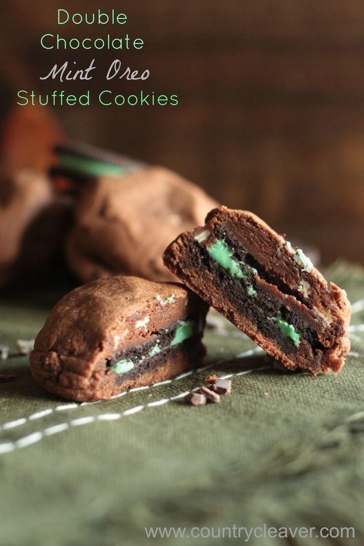 ... Chocolate Mint Oreo Stuffed Cookies & Hershey's Cookie Baking Pack
