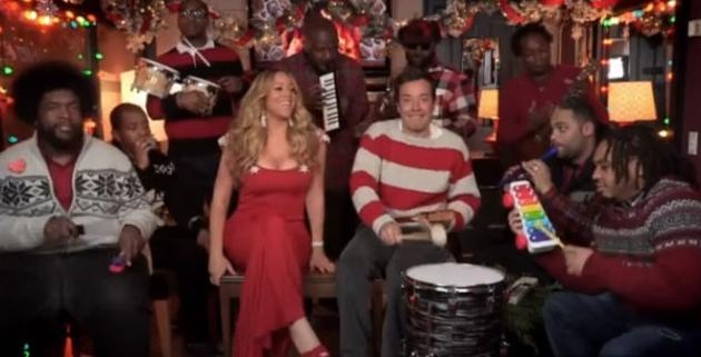 Jimmy fallon and mariah carey perform all i want for christmas is you