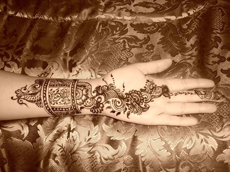 Mehndi Bracelet Easy : Simple mehndi bracelet tattoo pinterest