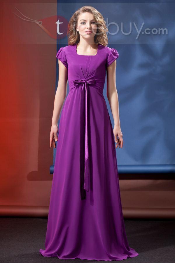 Purple Modest Bridesmaid Dresses In Stock - Wedding Short Dresses