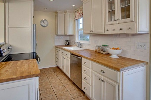 Cape Cod Kitchen After White Cabinets And Butcher Block Counters I