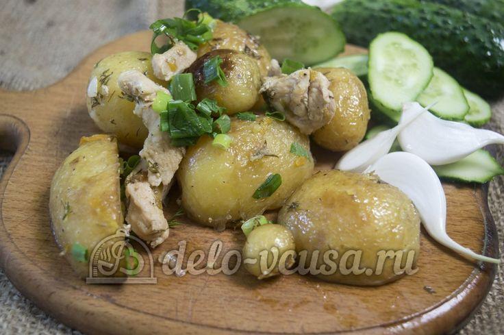 Мультиваркаы картошка с курицей в