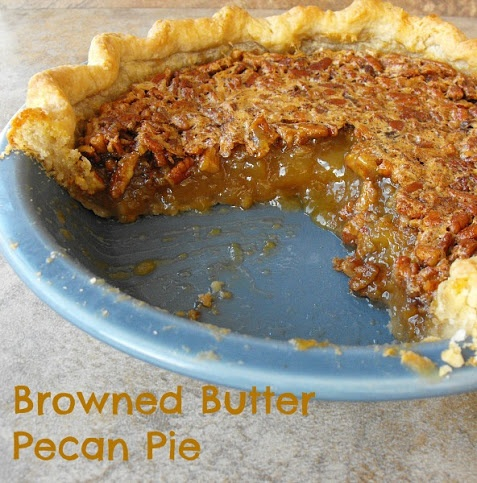 Browned Butter Maple Pecan Pie by Frugal Antics Recipes