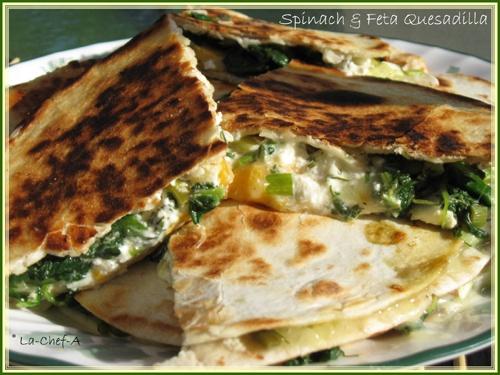 Spinach-Feta quesadilla (Romanian) | Bite Me | Pinterest